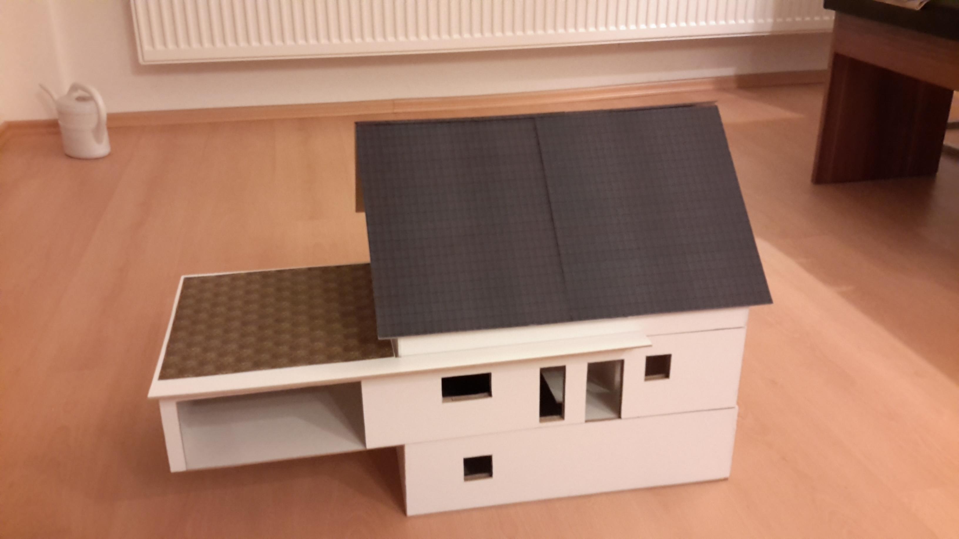 unser haus als modell im ma stab 1 25 yet another baublog. Black Bedroom Furniture Sets. Home Design Ideas