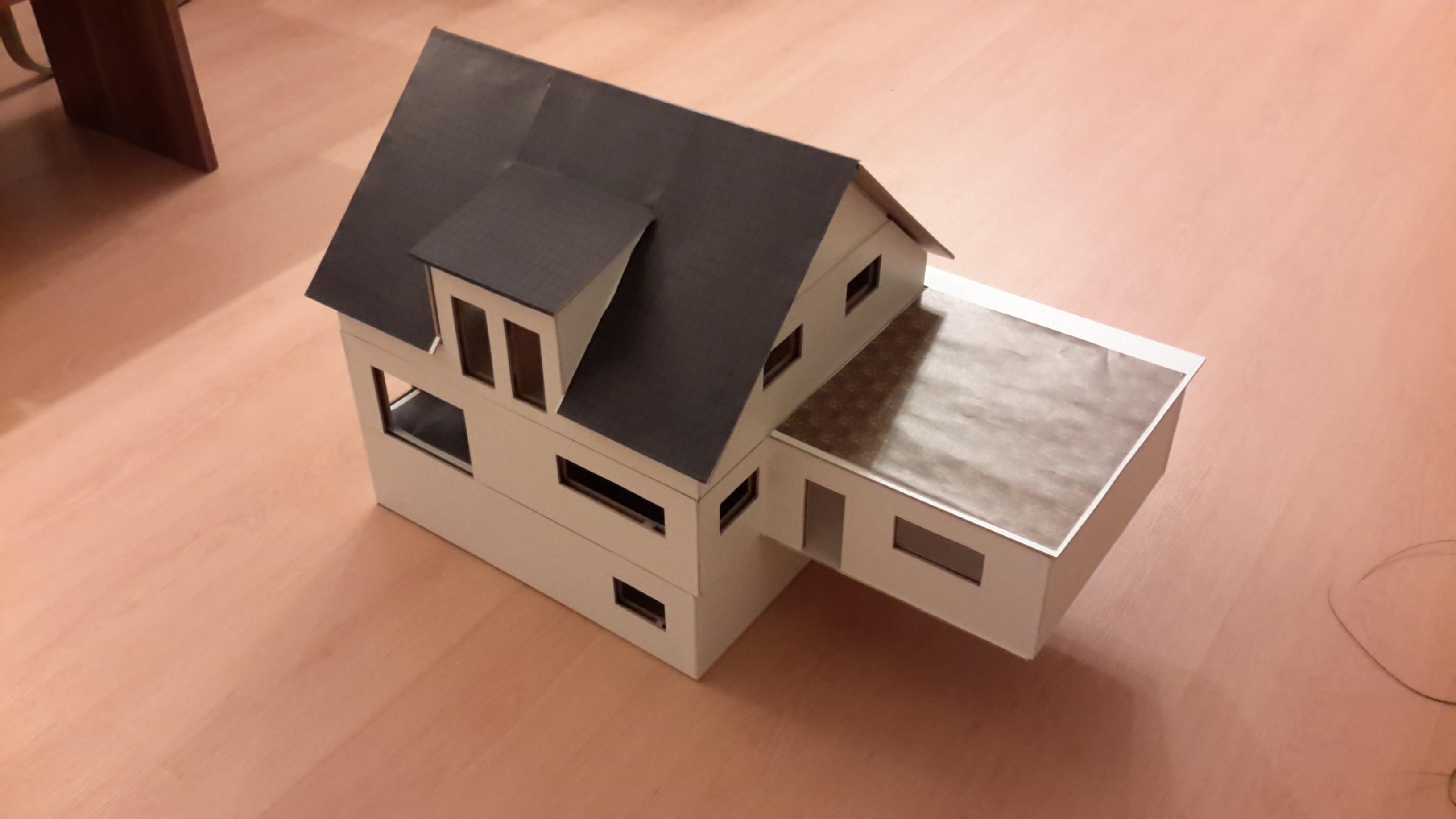 Unser Haus Als Modell Im Massstab 1 25 Yet Another Baublog