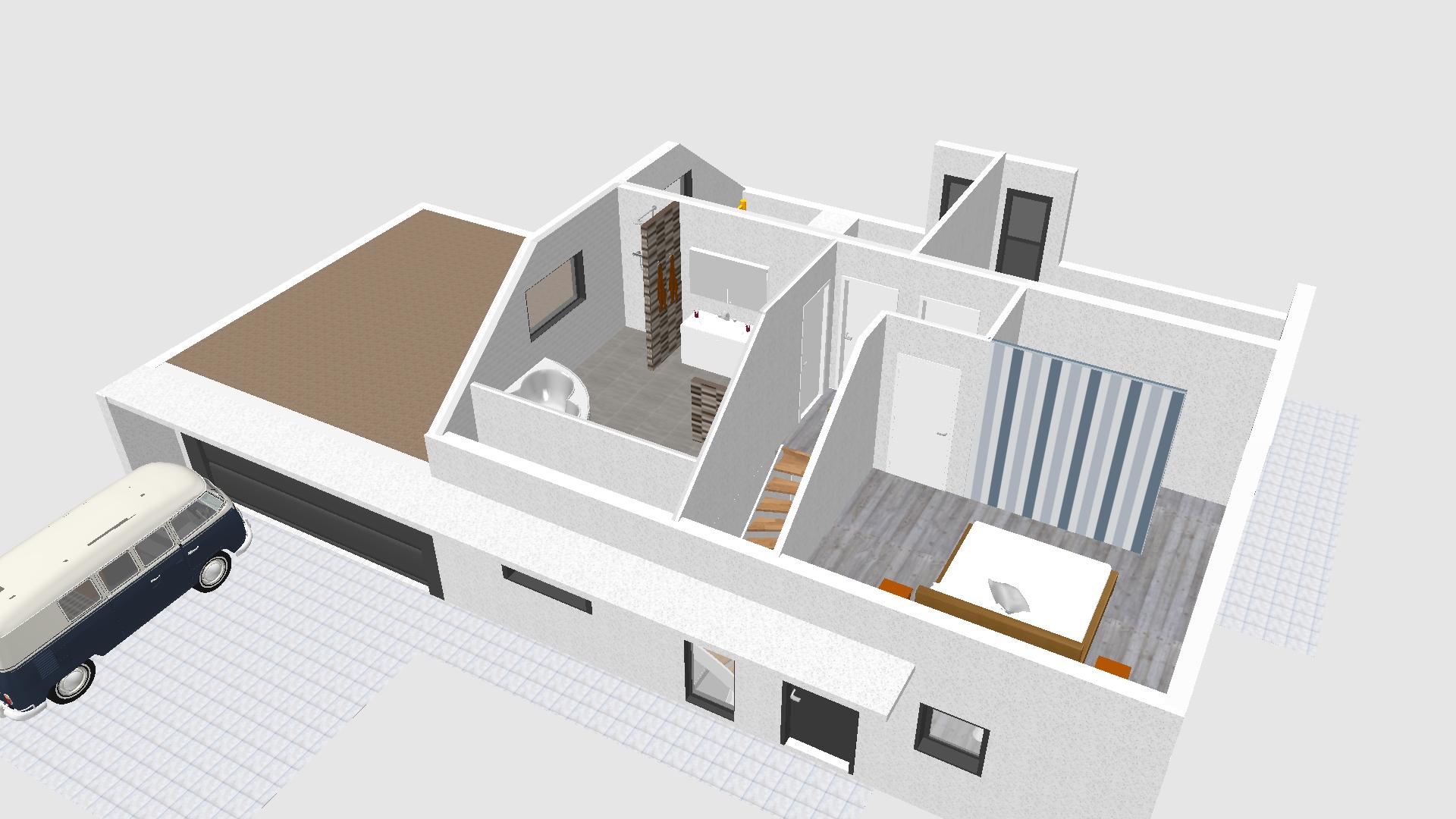 sweet home 3d erster entwurf yet another baublog. Black Bedroom Furniture Sets. Home Design Ideas